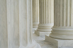 Neoclassic Columns. Close up on some neoclassic columns Stock Photo