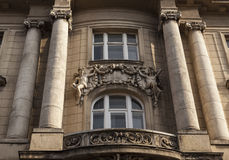 Neoclassic facade. Old building with a neoclassic facade decoration Royalty Free Stock Image