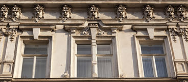 Neoclassic facade. Old building with a neoclassic facade decoration Stock Photos