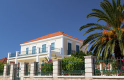 Neoclassic house in Greece. Neoclassic house from Lixouri city at Kefalonia island in Greece Stock Photo