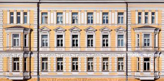 Neoclassic house. Texture of the neoclassic house in Moscow, Russia Stock Photo