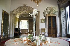 Neoclassic Interior. Neoclassical decoration for a wedding in an italian villa Royalty Free Stock Photos