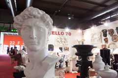 Neoclassic sculptures at Macef home show in Milan. MILAN, ITALY - SEPTEMBER 12, 2013: Neoclassic sculptures at Macef home international show, point of reference Stock Photography