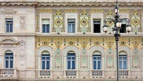 Neoclassic slott i Trieste Arkivbilder