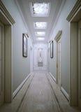 Neoclassic stil för korridor Royaltyfri Bild