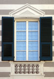 Neoclassic window. With light blue tents Stock Photography