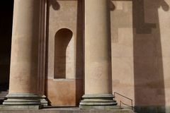 Neoclassical architecture: courthouse columns niche Royalty Free Stock Photography