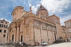 The neoclassical architecture of Saint Blaise church in Dubrovnik Royalty Free Stock Photos
