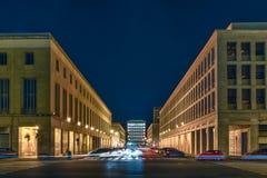 Neoclassical arkitektur i EUR-området, Rome, Italien Arkivfoto