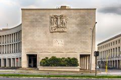 Neoclassical arkitektur i EUR-området, Rome, Italien Fotografering för Bildbyråer