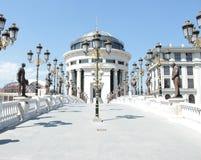 Neoclassical arkitektur på Scopje, Makedonien fotografering för bildbyråer