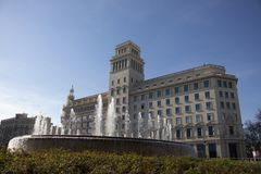 Neoclassical building in Barcelona royalty free stock photography