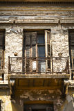 Neoclassical building. Detail of an old, abandoned, neoclassical building in Athens, Greece royalty free stock photography