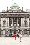 Neoclassical building Somerset House in the district Covent Garden, London, United Kingdom. LONDON, UNITED KINGDOM - JUNE 22, 2017: Neoclassical building stock photography