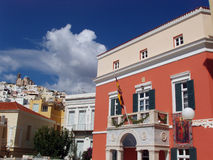 Neoclassical building  - Syros Stock Photo