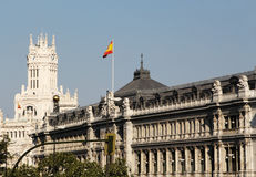 Neoclassical buildings of madrid, spain Stock Photos