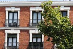 Neoclassical buildings of madrid, spain Royalty Free Stock Image