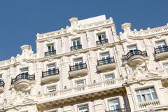 Neoclassical buildings of madrid, spain Royalty Free Stock Photo