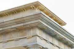 Neoclassical ceiling and columns Stock Photo