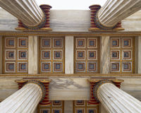 Neoclassical ceiling detail Royalty Free Stock Photo