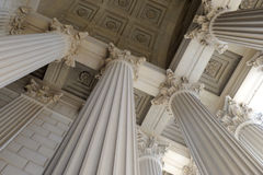 Neoclassical Columns. On an historic building royalty free stock photos