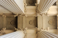 Neoclassical Columns. Looking up at neoclassical columns royalty free stock image