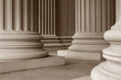Neoclassical Columns. Columns in front of the National Archives in Washington, D.C Stock Images