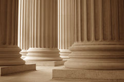 Neoclassical Columns. Columns at the National Archives in Washington, D.C Royalty Free Stock Images