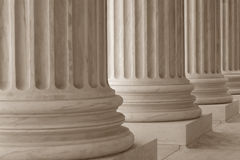 Neoclassical Columns. In a row stock image