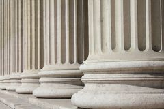 Neoclassical columns - business concept Stock Photos