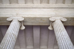 Neoclassical columns capitals Royalty Free Stock Photo