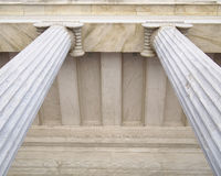 Neoclassical columns capitals Stock Photography
