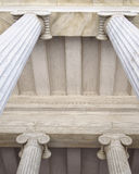 Neoclassical columns capitals Stock Photo