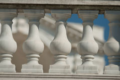 Neoclassical ionic architectural details. Of a balcony royalty free stock photography