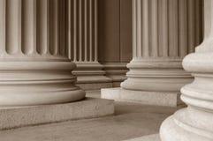 neoclassical kolonner Arkivbilder