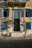 Neoclassical mansion, Syros island, Greece Royalty Free Stock Photography