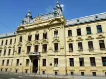 Neoclassical palace. In the center of Zagreb stock images