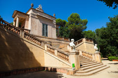 Neoclassical pavilion at Labyrinth Park of Horta Royalty Free Stock Images