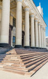 Neoclassical pillars on Railway Station Royalty Free Stock Photo