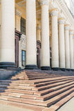 Neoclassical pillars on Station Royalty Free Stock Images