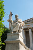 Neoclassical statues of Socrates and Athena Royalty Free Stock Photo