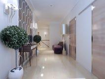 Neoclassical stil för korridor arkivfoto