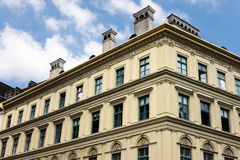 Neoclassical style apartment building in Europe Stock Image