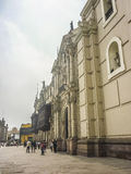 Neoclassical Style Building in Plaza Mayor in Peru Stock Images