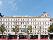 Neoclassical Vintage Architecture In Downtown Vienna Stock Images