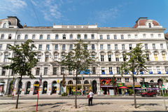 Neoclassical Vintage Architecture In Downtown Vienna Stock Photography