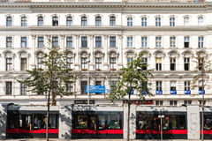 Neoclassical Vintage Architecture In Downtown Vienna Stock Photo