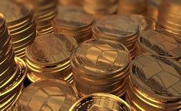 Neocoin dourado real fotografia de stock