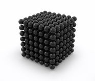 Neodym black cube. 3d image Royalty Free Stock Image