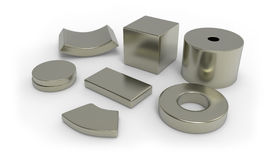 Neodymium magnets Stock Image